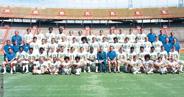 Miami Dolphins team photo 1972