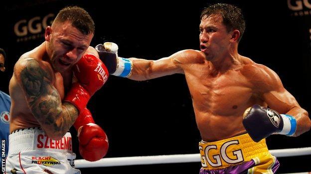 Gennady Golovkin fighting Kamil Szeremeta