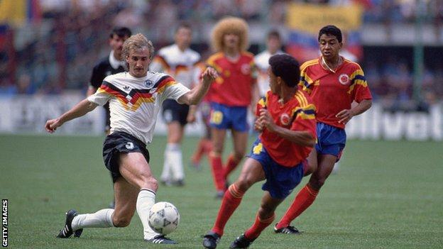 West Germany v Colombia