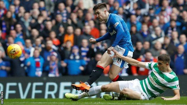 Josh Windass scores Rangers' first goal