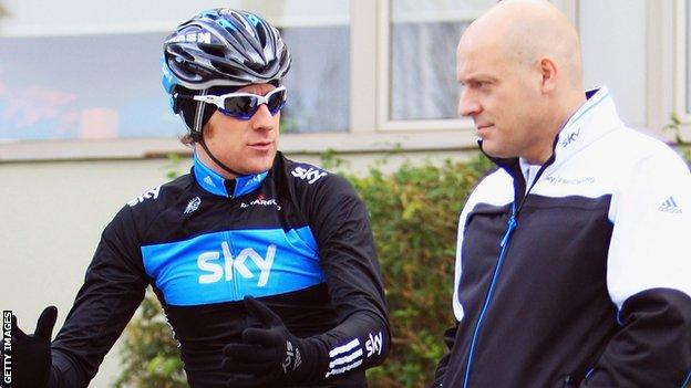 Bradley Wiggins with Dave Brailsford