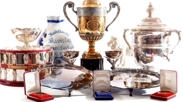 Boris Becker: Former Wimbledon champion's trophies put up for auction