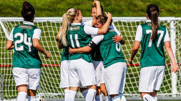 Hibs Ladies kept up the pressure on Glasgow City at the top of the table