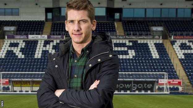 Falkirk defender Kevin McCann