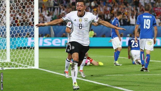 Germany and Arsenal midfielder Mesut Ozil