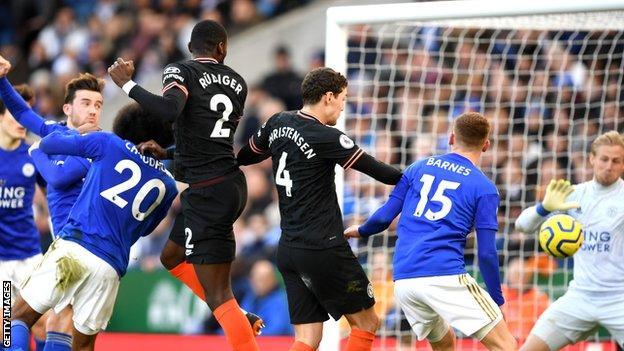 Antonio Rudiger scores for Chelsea