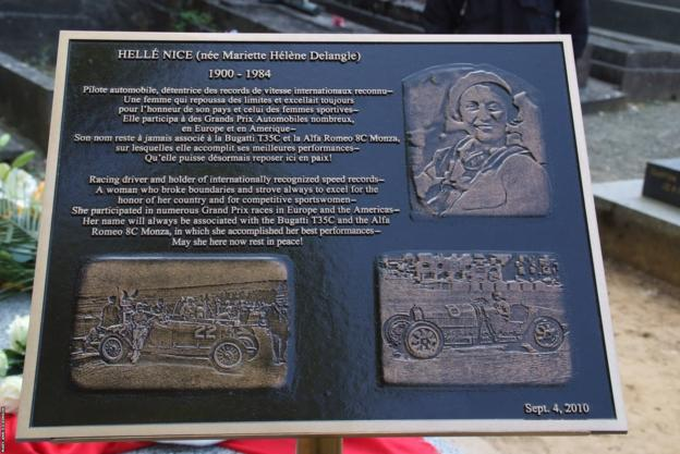 Helle Nice Foundation plaque