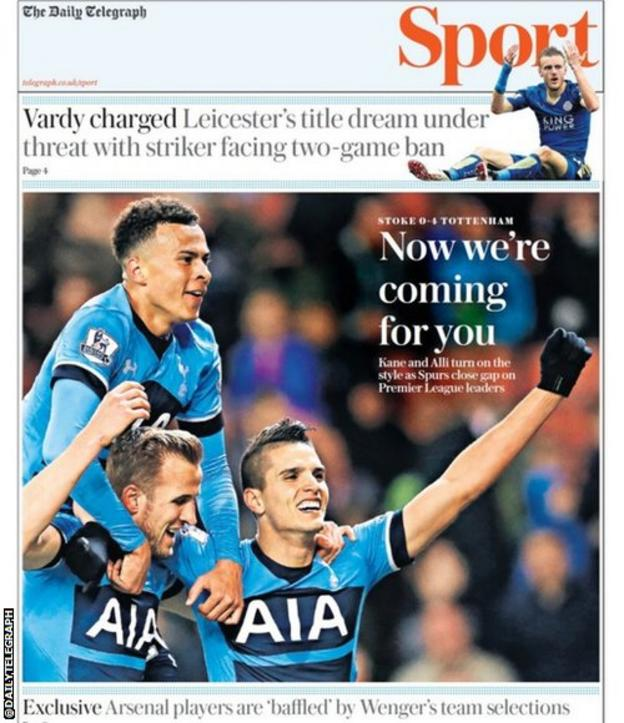 Daily Telegraph sports section
