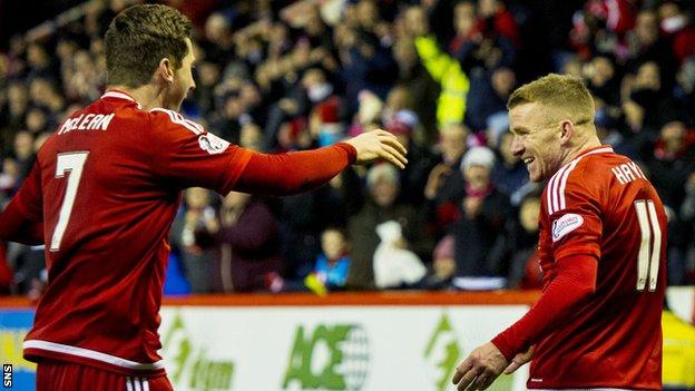 Jonny Hayes (right) and Kenny McLean