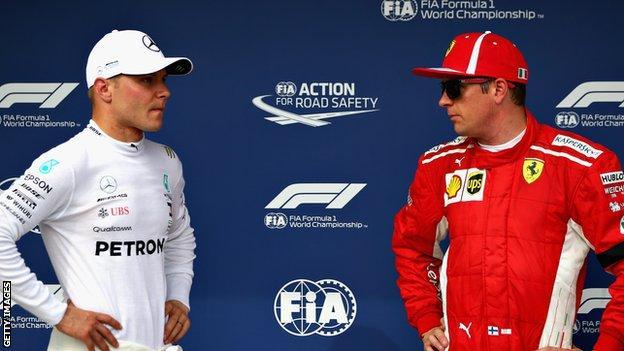 Valtteri Bottas and Kimi Raikkonen