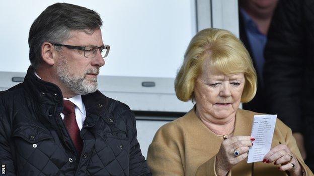 Craig Levein and Hearts owner Ann Budge