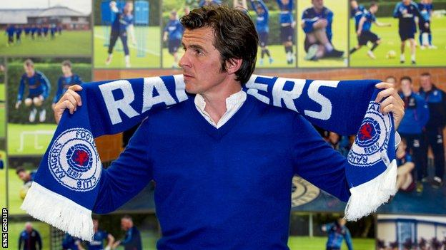 Joey Barton has signed a two-year deal at Rangers