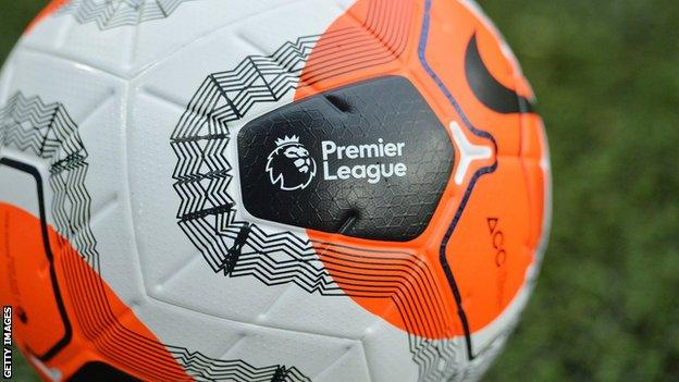 Premier League logo on ball