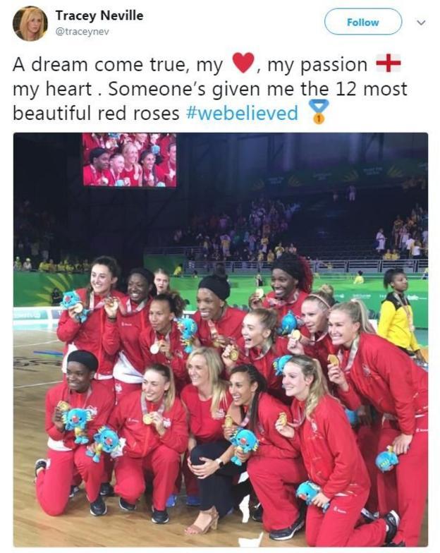 Tracey Neville tweet