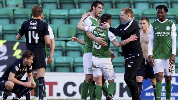 Hibs striker James Keatings