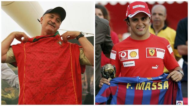 Luis Felipe Scolari and Felipe Massa