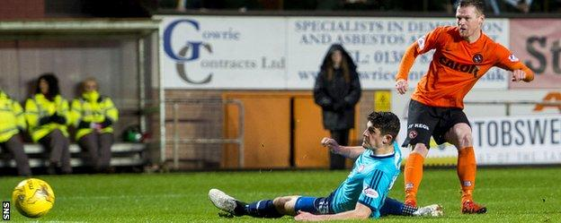 Dundee United's Billy Mckay fires his side ahead