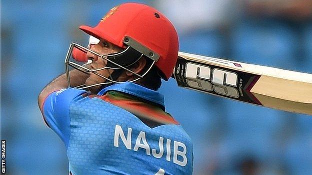 Najibullah Zadran's inning helped Afghanistan recover from 50-5 to reel in the Ireland total
