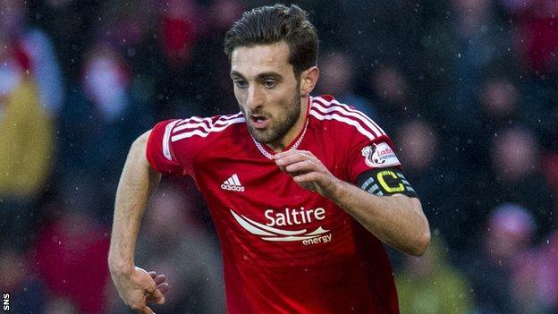 Aberdeen left-back Graeme Shinnie