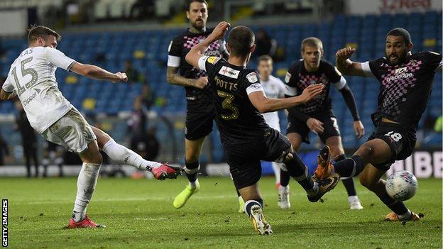Stuart Dallas scores for Leeds