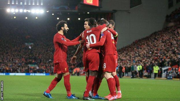 Liverpool celebrate a goal