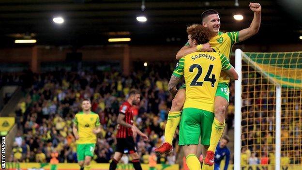 Christos Tzolis, Josh Sargent, Norwich City, Bournemouth, Carabao Cup