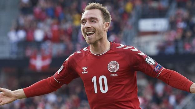 Uefa Nations League: Christian Eriksen strikes twice as Denmark beat Wales thumbnail