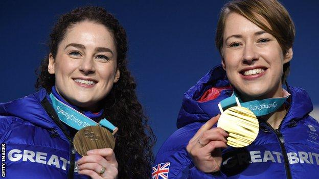 Laura Deas and Lizzy Yarnold