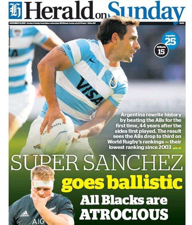 Herald on Sunday front page