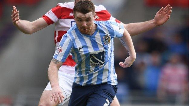 Coventry City midfielder John Fleck was voted the Sky Blues' player of the season