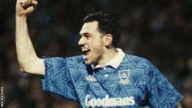 Guy Whittingham playing for Portsmouth in 1992