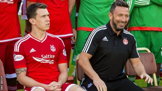 Ryan Jack and Derek McInnes (right)
