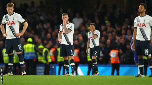 Tottenham players disappointed after draw