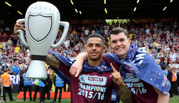 Andre Gray (left) and Michael Keane