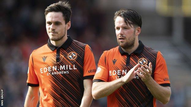 Dundee United pair Liam Smith and Marc McNulty