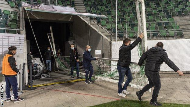 Replacement goals at St Gallen's stadium
