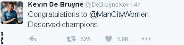 Kevin de Bruyne on Twitter