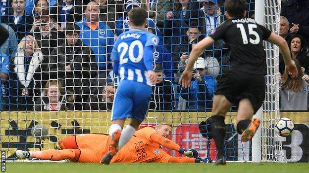 Kasper Schmeichel saves penalty