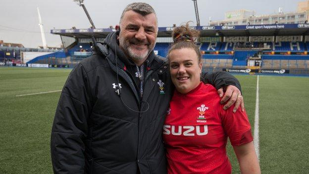 Rowland Phillips and daughter Carys