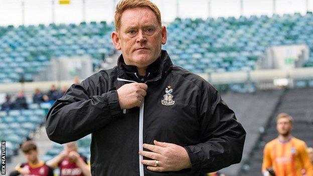 Bradford City boss David Hopkin