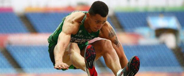 Adam McMullen in action at last year's World University Games in South Korea