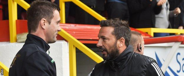 Derek McInnes finally got the better of Celtic manager Ronny Deila at the fifth attempt on Saturday