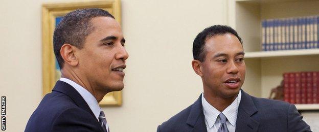 Barack Obama and Tiger Woods