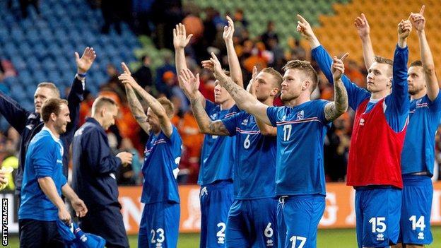 Iceland celebrating