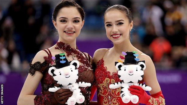 Alina Zagitova and Evgenia Medvedeva