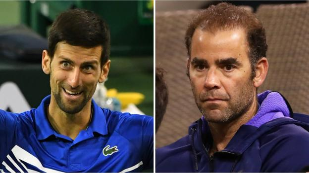 Indian Wells: Novak Djokovic greets legend Pete Sampras after win thumbnail