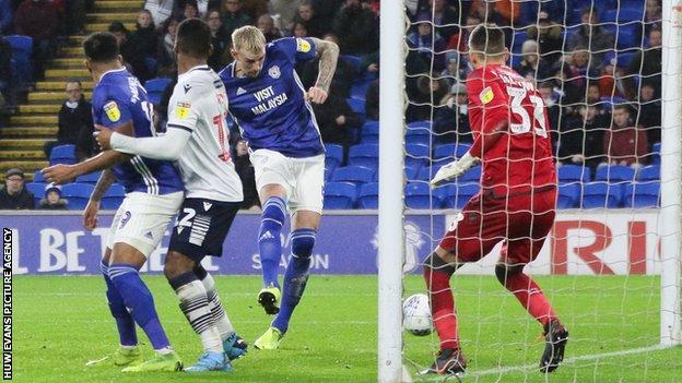 Cardiff had led briefly though Aden Flint 's goal