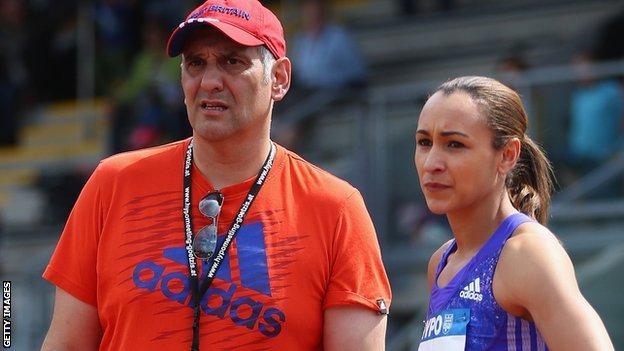 Toni Minichiello with Jessica Ennis-Hill