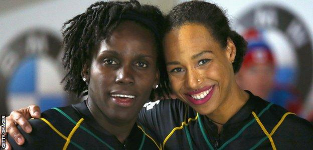 Jazmine Fenlator-Victorian and Carrie Russell carry the hopes of Jamaica in this year's Olympics