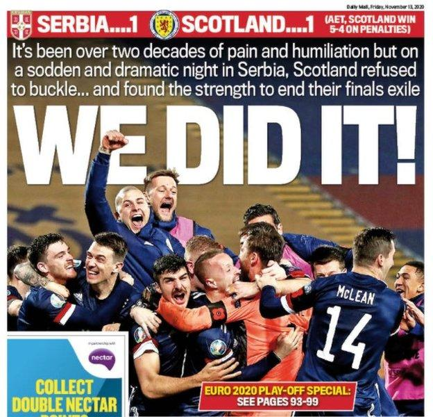Scottish Daily Mail back page